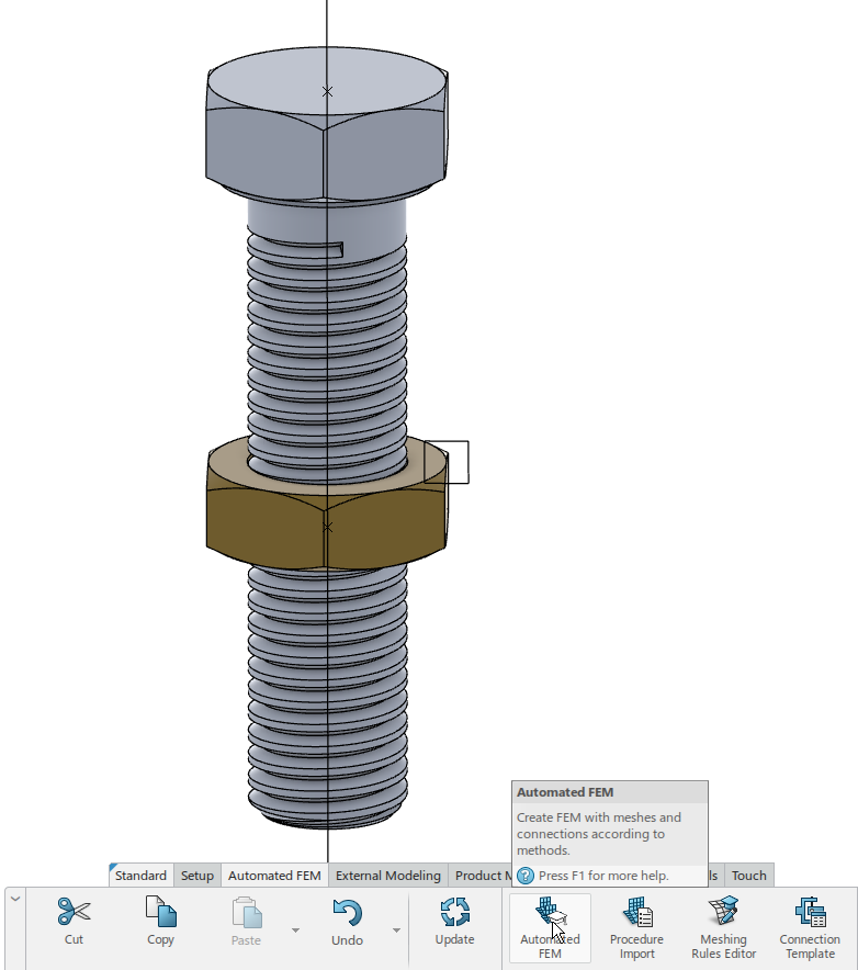 axisymmetry_3Dex_automated FEM_model assembly design