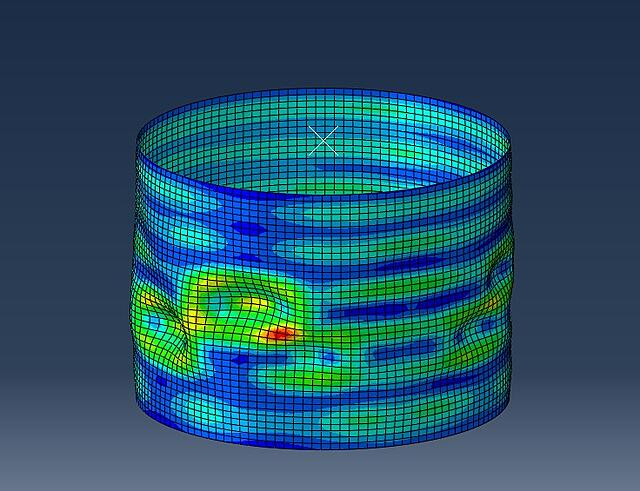 Abaqus - Postbuckling Riks Analysis with Imperfections.jpg