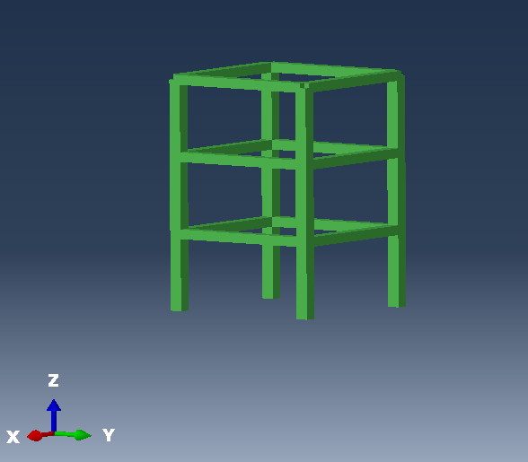 Concrete frame in Abaqus