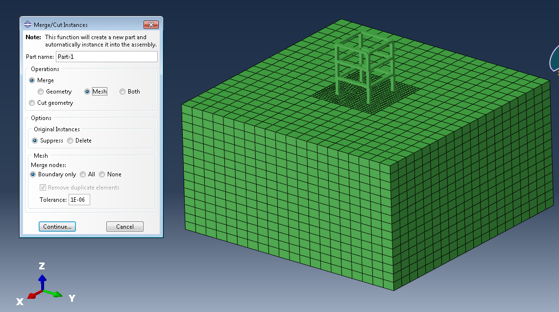 mesh of Assembly in Abaqus