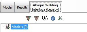 Abaqus welding interface model tree