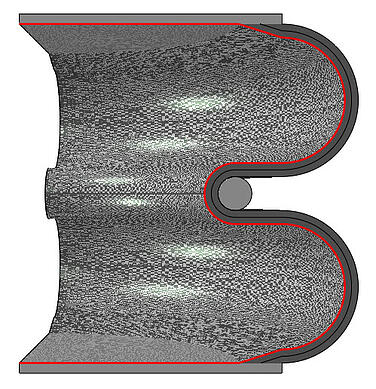 abaqus_air spring_fluid cavity