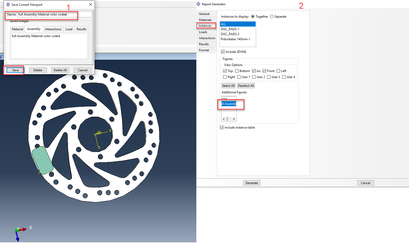 Abaqus add or save current viewport layouts for reports
