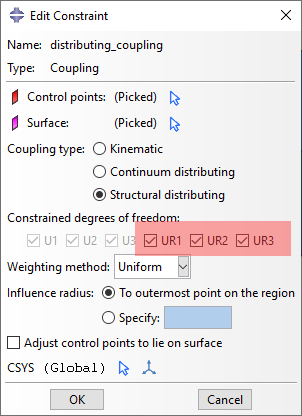 Kinematic Vs Distributed Coupling Constraints In Abaqus