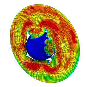 Abaqus Tutorial Explicit impact ball plate