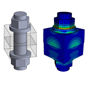 Abaqus tutorial Bolted connection