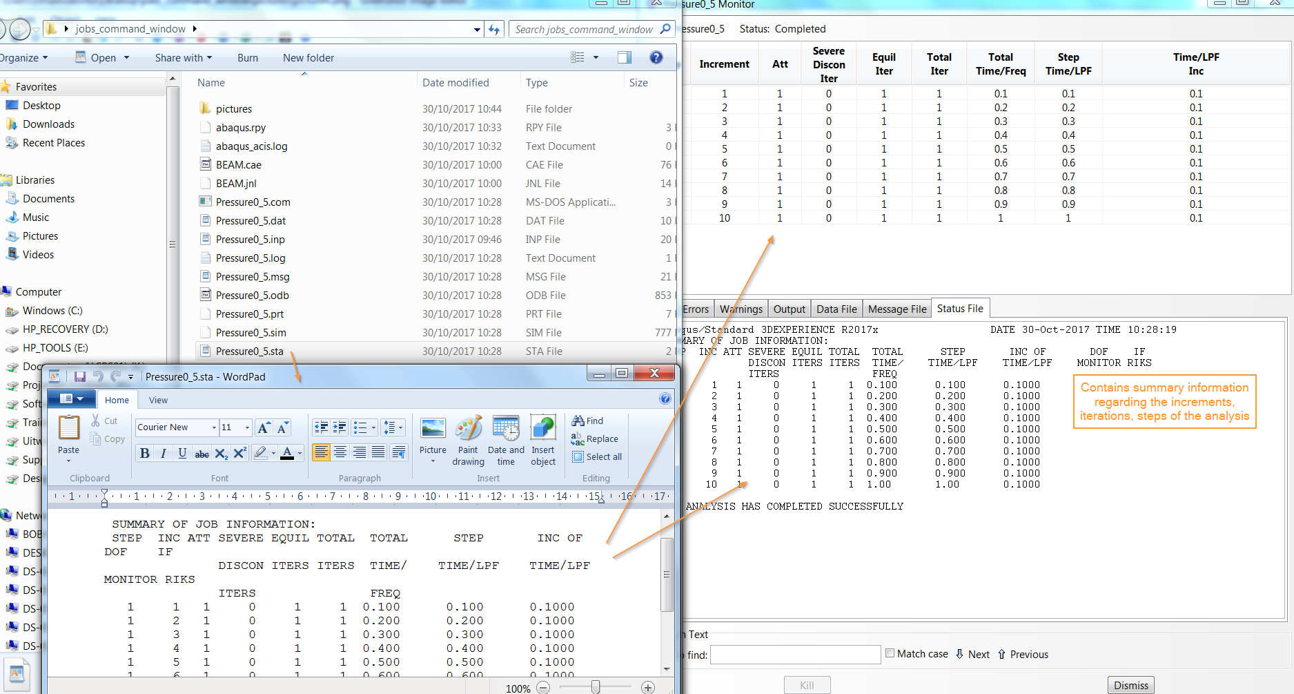 How to submit and monitor Abaqus jobs through command window
